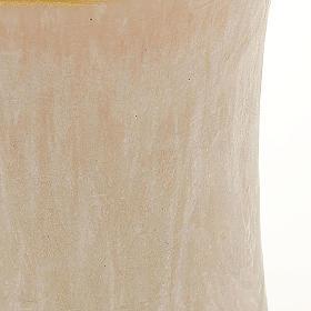 Vela cilíndrica cor de marfim borda ouro diâm. 7 cm s2