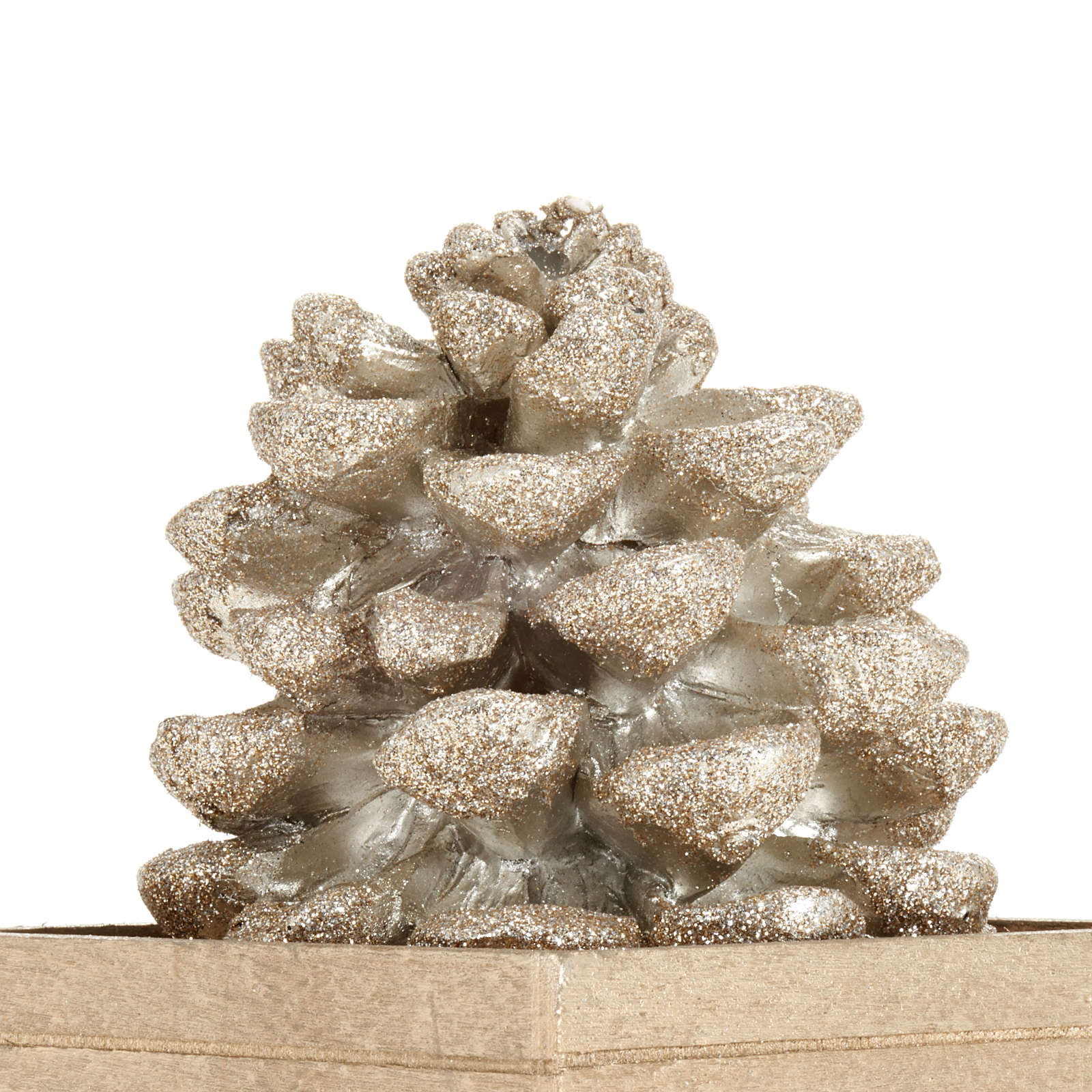 Pine cone candle, champagne color 3