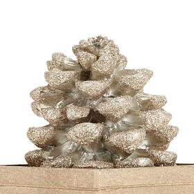 Pine cone candle, champagne color s3