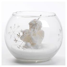 Candela Natale angelo in palla di vetro s1