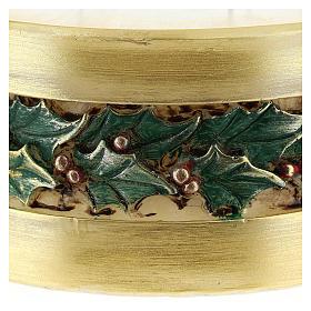 Vela de Navidad acebo cilindro s2
