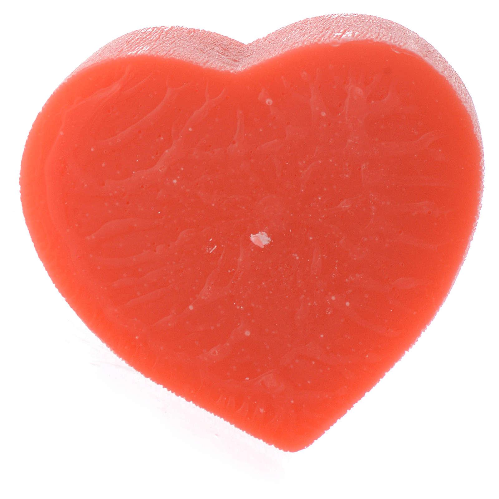 Perfumed candle, heart shape 65x110mm 3
