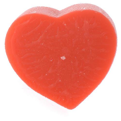 Perfumed candle, heart shape 65x110mm 1