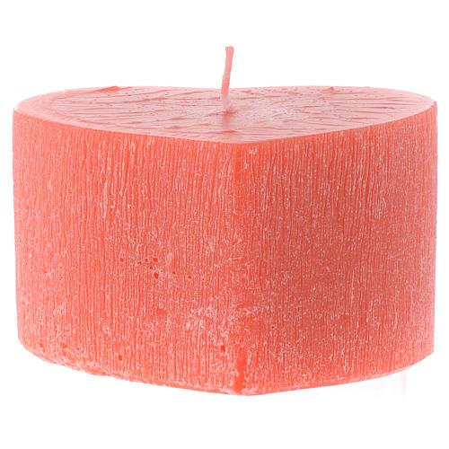 Perfumed candle, heart shape 65x110mm 2