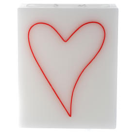 Christmas candles: Candle, rectangular shape with heart