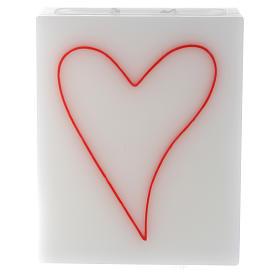 Velas de Natal: Vela rectangular coração