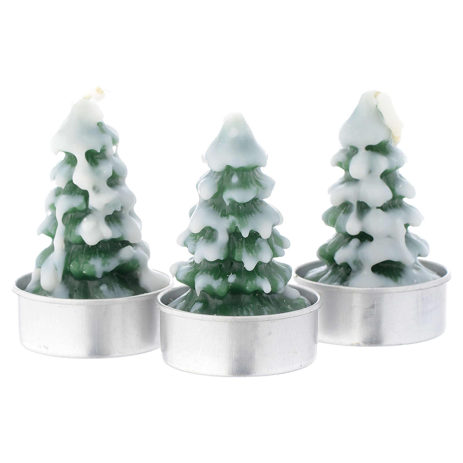 Vela navideña Árbol de Navidad con nieve, juego de 3 piezas 3