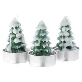 Vela navideña Árbol de Navidad con nieve, juego de 3 piezas s1