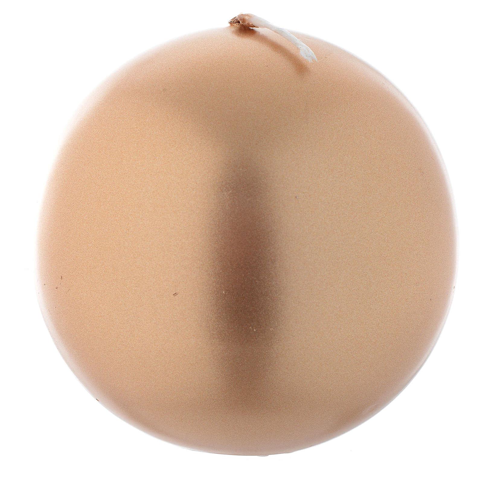 Vela navideña esfera dorada, diámetro 8 cm 3