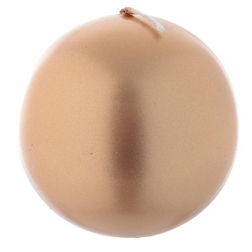 Vela navideña esfera dorada, diámetro 8 cm 1