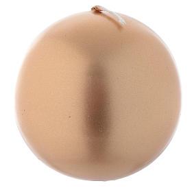 Bougie de Noël sphère or diam 8 cm s1