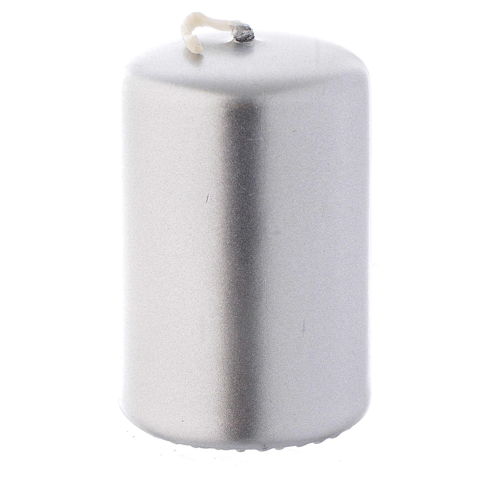 Candelotto natalizio argento 6x4 cm 3