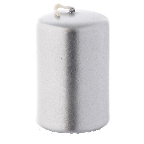Candelotto natalizio argento 6x4 cm 1