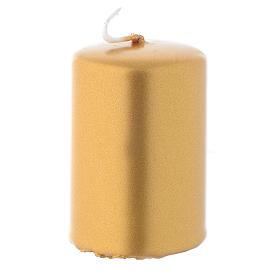 Candele natalizie: Candelotto natalizio dorato 6x4 cm