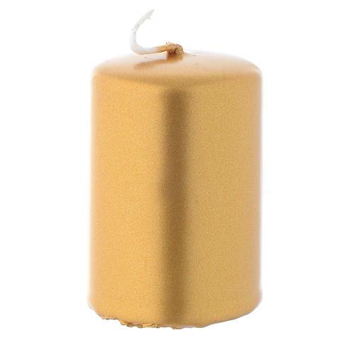 Candelotto natalizio dorato 6x4 cm 1