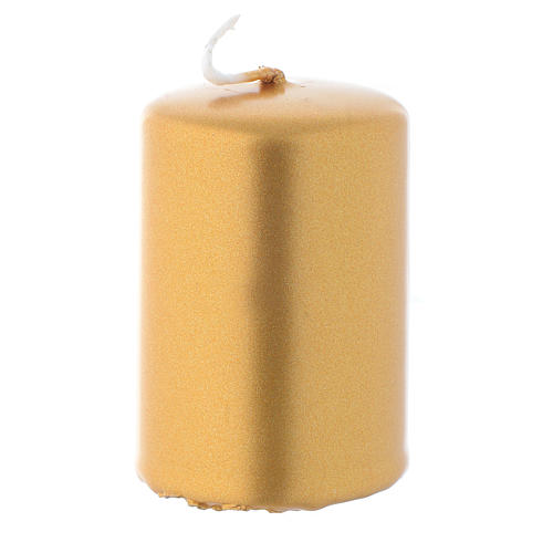 Christmas candle, golden colour measuring 6x4cm 1
