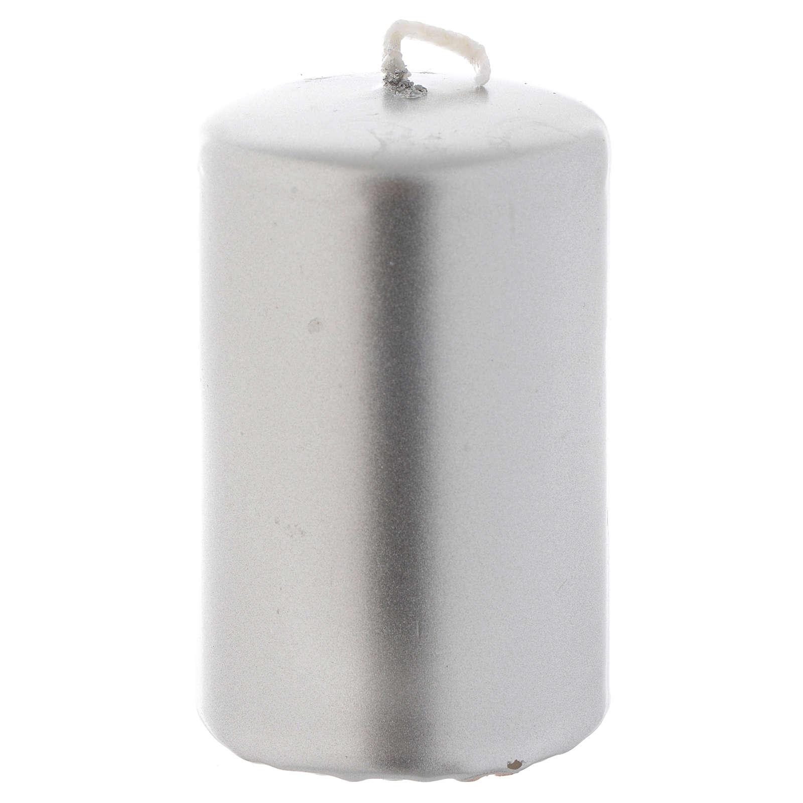 Candelotto di Natale argento 8x5 cm 3