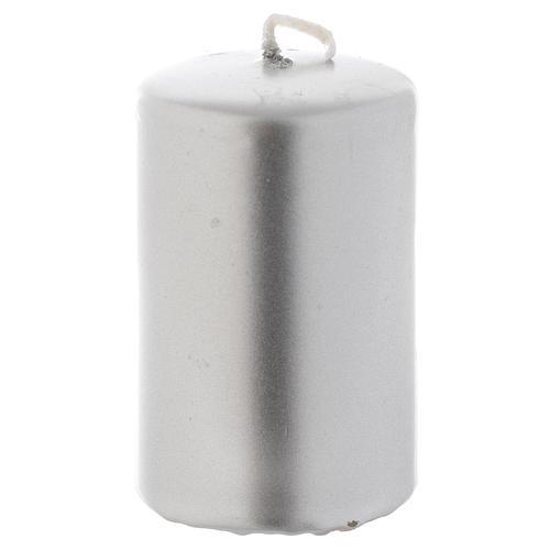 Candelotto di Natale argento 8x5 cm 1
