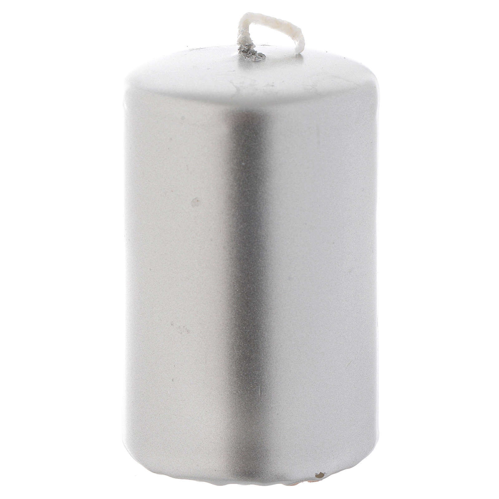 Christmas candle, silver color measuring 8x5cm 3