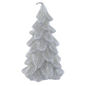 Candela Albero di Natale 11 cm Argentata s1