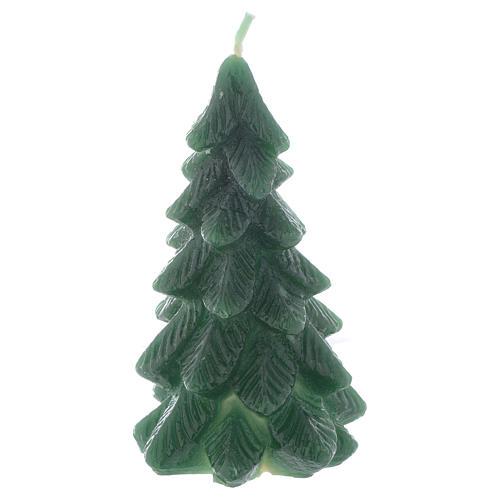 Świeca bożonarodzeniowa choinka 11cm zielona 1