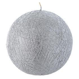 Velas de Natal: Vela de Natal Comet esfera 12,5 cm prateada