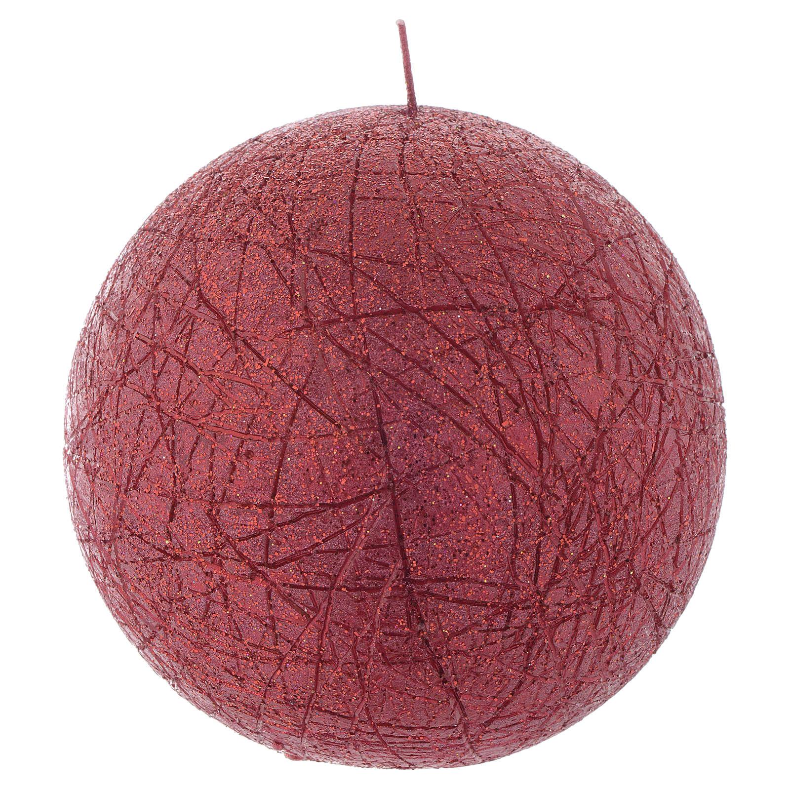 Candela di Natale Comet sfera 12,5 cm Rossa 3