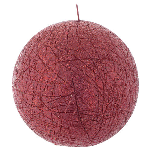 Candela di Natale Comet sfera 12,5 cm Rossa 1