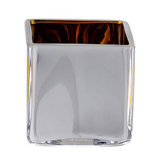 Tealight Stütze gelben Glas mit Deko 5