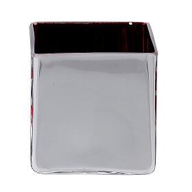 Tealight Stütze roten Glas mit Deko s4