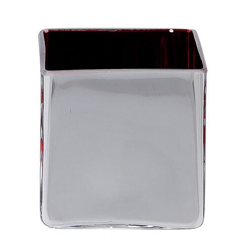 Tealight Stütze roten Glas mit Deko 4
