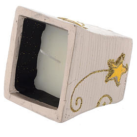 Bougie Noël Golden Stars pot carré s2