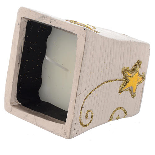 Candela Natalizia Golden Stars vasetto quadro 2