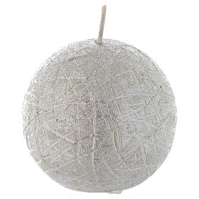 Bougie de Noël Comet sphère 8 cm argent s1