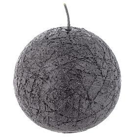 Vela Natal Comet esfera 8 cm antracite s1