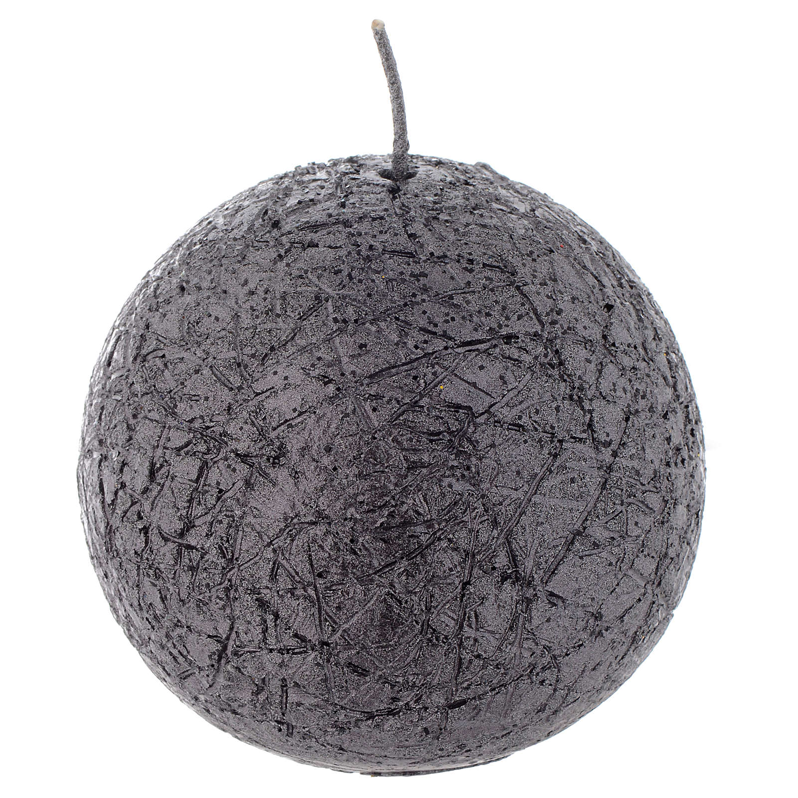 Christmas sphere candle, comet model, charcoal grey color 8cm 3