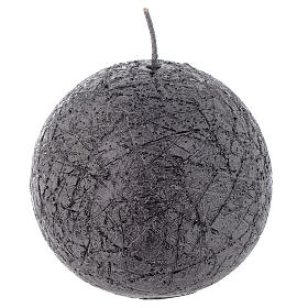 Christmas sphere candle, comet model, charcoal grey color 8cm s1