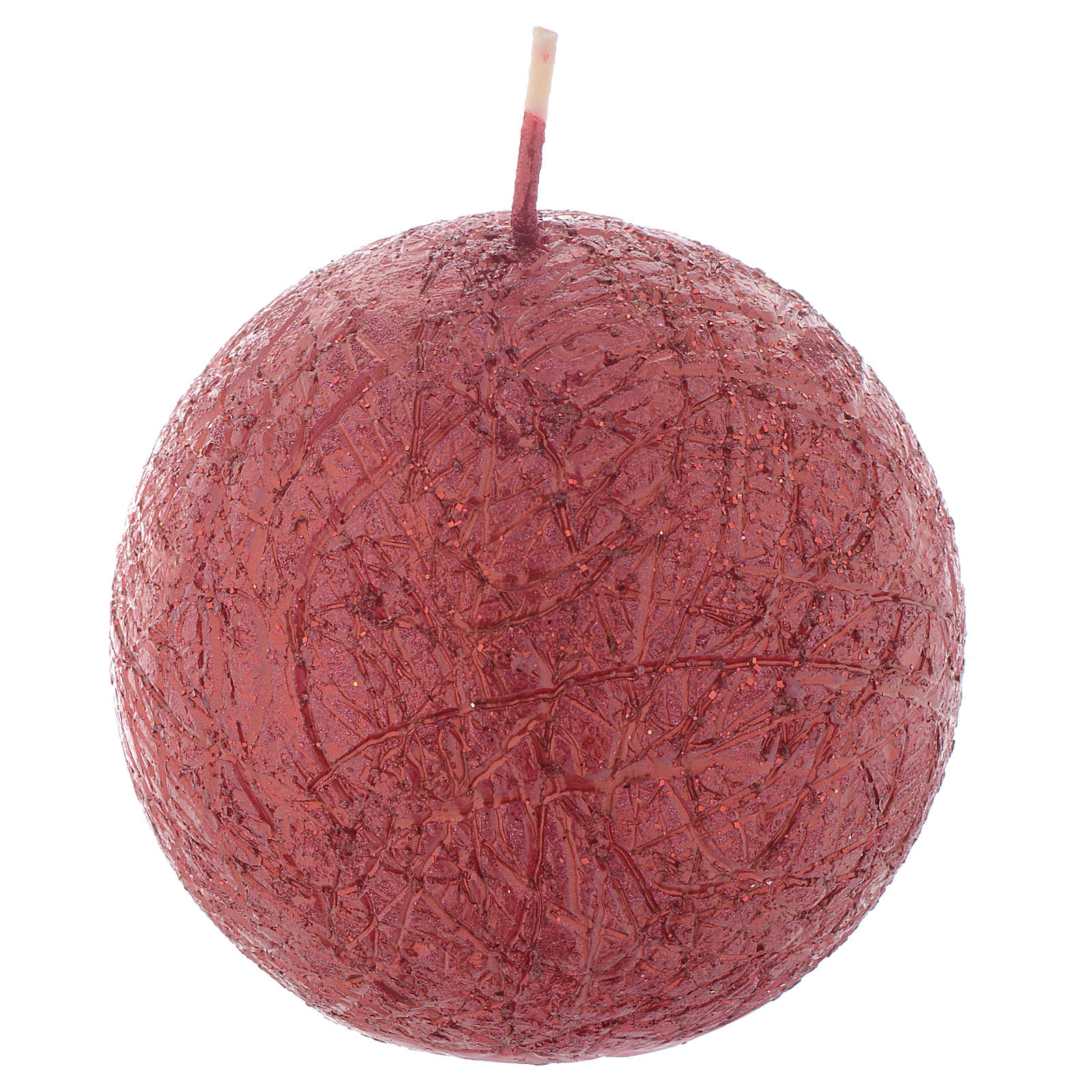 Candela Natalizia Comet sfera 8 cm Rosso 3