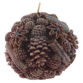 Candela natalizia anice e cannella 10 cm s1
