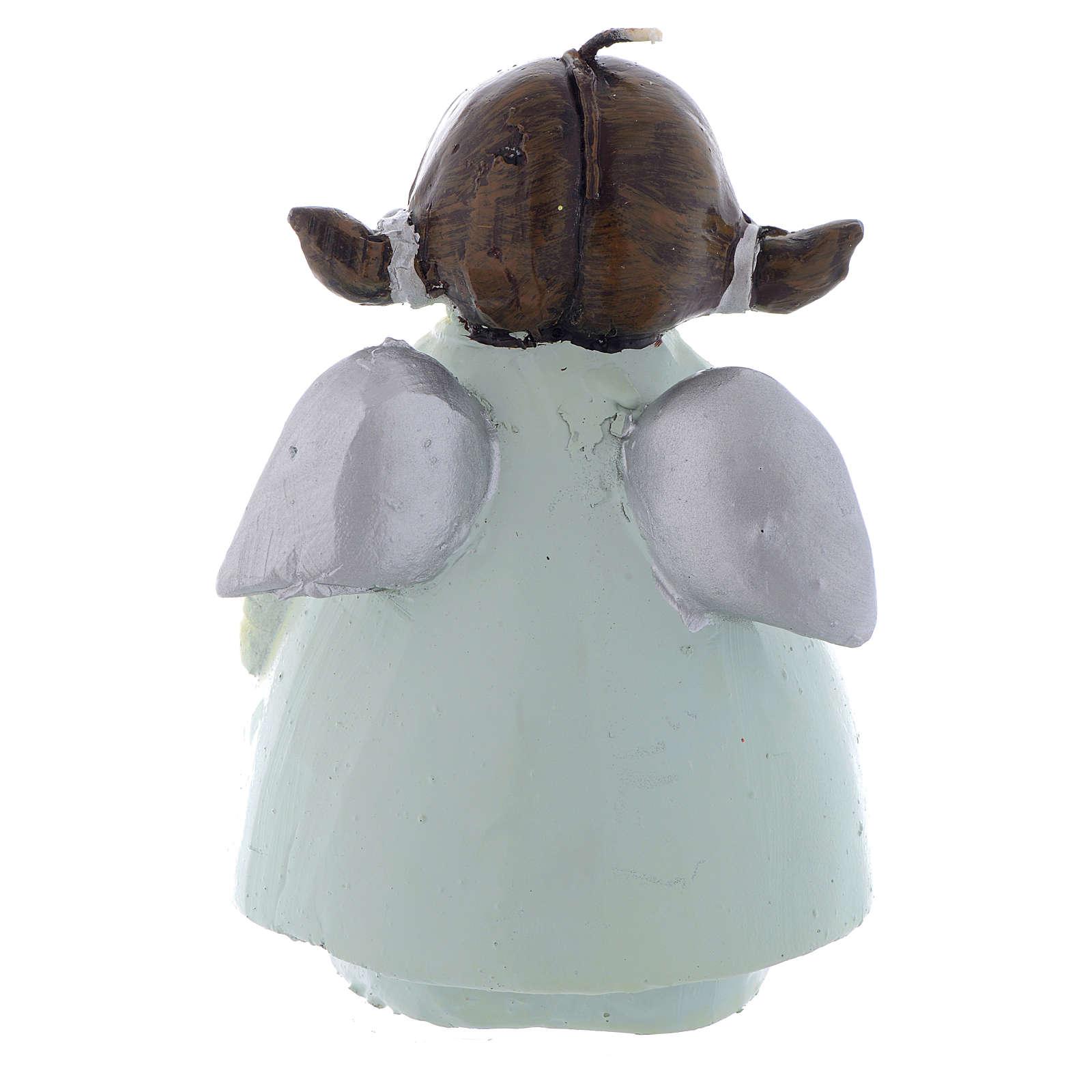 Bougie de Noël ange Naif 13 cm 3