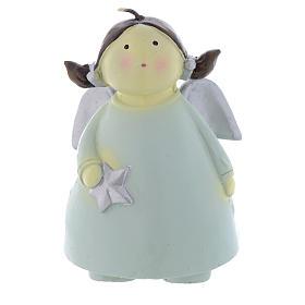 Bougie de Noël ange Naif 13 cm s1