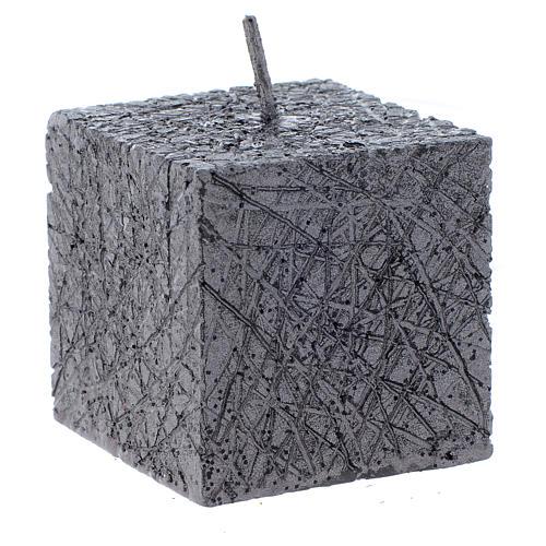 Bougie de Noël Comet cube 5x5 cm anthracite 1