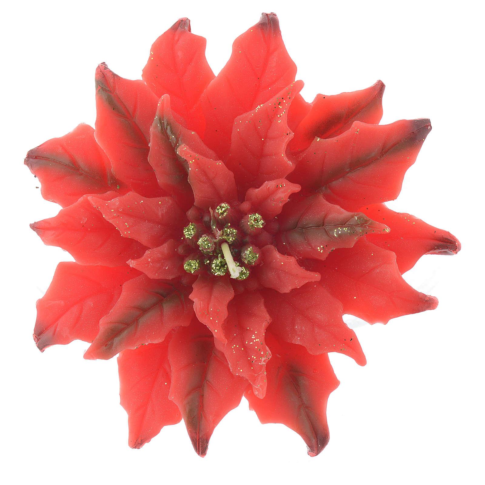 Candela stella di Natale rossa 3