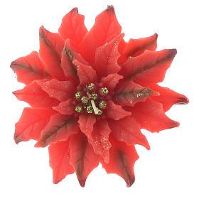 Candela stella di Natale rossa s1