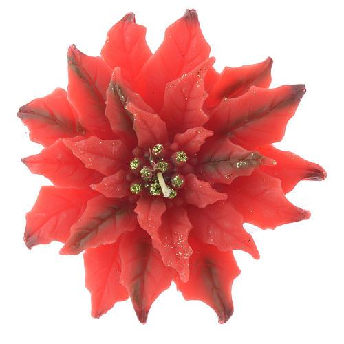 Candela stella di Natale rossa 1