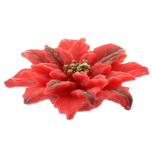 Candela stella di Natale rossa 2