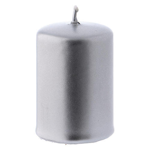 Ceralacca silver-colour metal candle 4x6 cm 1