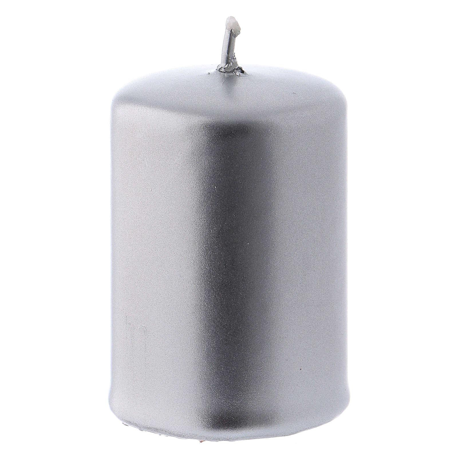 Bougie Noël métal argent Ceralacca 4x6 cm 3