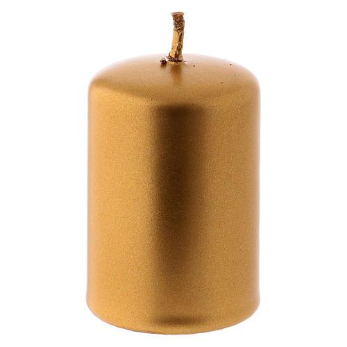Candelotto Natale metallo oro Ceralacca 4x6 cm 2