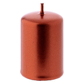 Pillar Christmas Candle, Ceralacca in copper, 4x6 cm s2